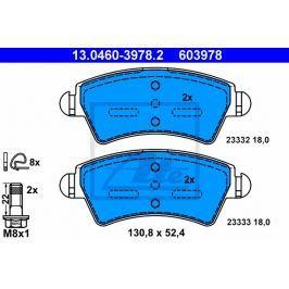Sada brzdových destiček ATE AT 603978 13.0460-3978.2 ATE