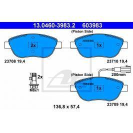 Sada brzdových destiček ATE AT 603983 13.0460-3983.2 ATE