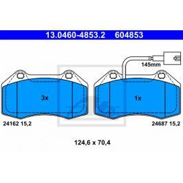 Sada brzdových destiček, kotoučová brzda ATE AT 604853 13.0460-4853.2 ATE