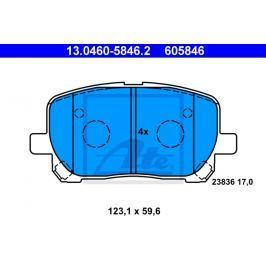 Sada brzdových destiček ATE AT 605846 13.0460-5846.2 ATE