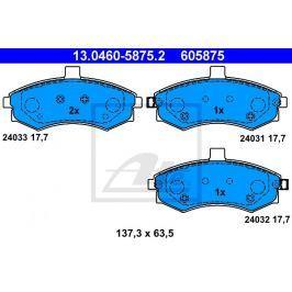 Sada brzdových destiček ATE AT 605875 13.0460-5875.2 ATE