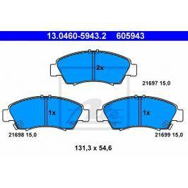 Sada brzdových destiček ATE AT 605943 13.0460-5943.2 ATE