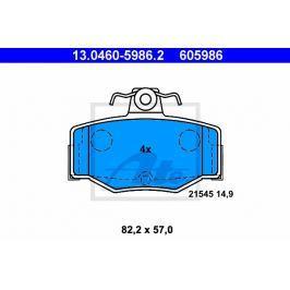 Sada brzdových destiček ATE AT 605986