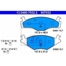 Sada brzdových destiček, kotoučová brzda CONTINENTAL TEVES (ATE) 13.0460-7032.2 ATE