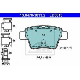 Sada brzdových destiček ATE Ceramic AT LD3813