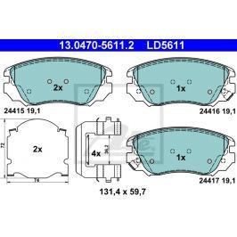 Sada brzdových destiček ATE Ceramic AT LD5611