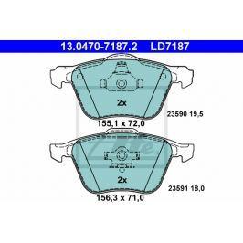 Sada brzdových destiček ATE Ceramic AT LD7187