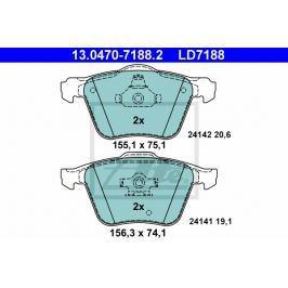 Sada brzdových destiček ATE Ceramic AT LD7188