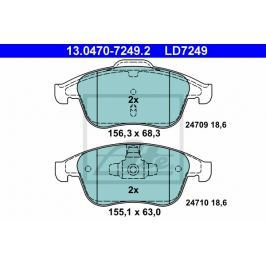 Sada brzdových destiček ATE Ceramic AT LD7249 13.0470-7249.2 ATE