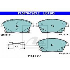 Sada brzdových destiček ATE Ceramic AT LD7263