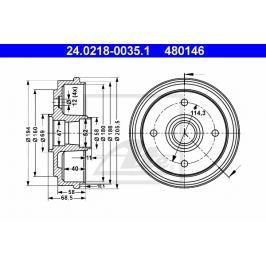 P/L brzdový buben ATE AT 480146