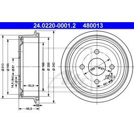 P/L brzdový buben ATE AT 480013