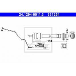 Brzdová hadice ATE AT 331254