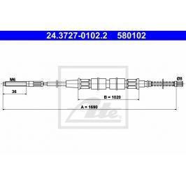 lanko ruční brzdy ATE AT 580102 Auto-moto