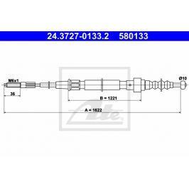 lanko ruční brzdy ATE AT 580133