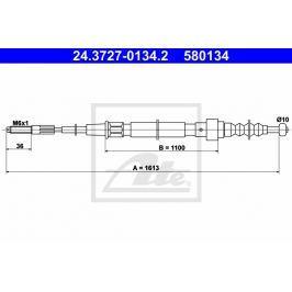 lanko ruční brzdy ATE AT 580134 Auto-moto