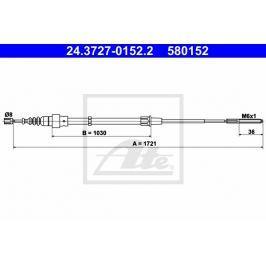 lanko ruční brzdy ATE AT 580152 Auto-moto