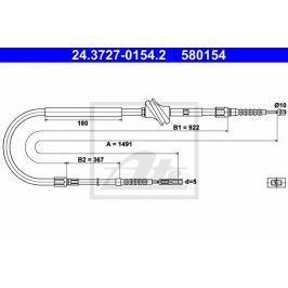 lanko ruční brzdy ATE AT 580154 Auto-moto