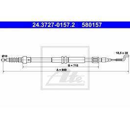 lanko ruční brzdy ATE AT 580157 Auto-moto