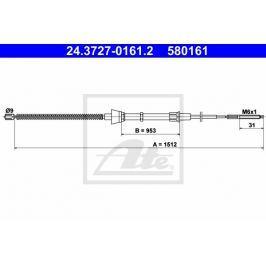 lanko ruční brzdy ATE AT 580161 Auto-moto