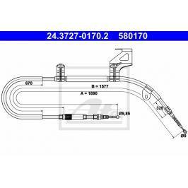 lanko ruční brzdy ATE AT 580170 Brzdové destičky a čelisti