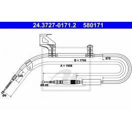 lanko ruční brzdy ATE AT 580171