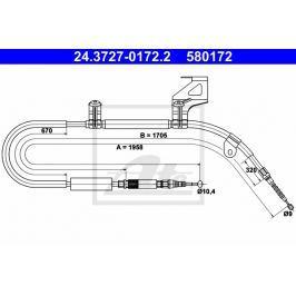 lanko ruční brzdy ATE AT 580172 Brzdové destičky a čelisti