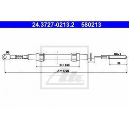 lanko ruční brzdy ATE AT 580213 Auto-moto