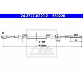 lanko ruční brzdy ATE AT 580220 Auto-moto