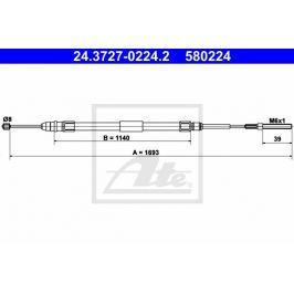 lanko ruční brzdy ATE AT 580224 Auto-moto