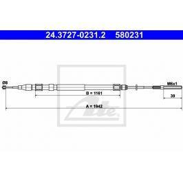 lanko ruční brzdy ATE AT 580231 Auto-moto