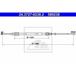Tažné lanko, parkovací brzda ATE AT 580238 Auto-moto