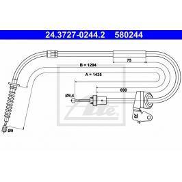 Tažné lanko, parkovací brzda ATE AT 580244 Auto-moto