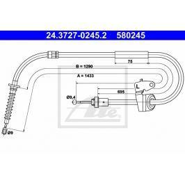 Tazne lanko, parkovaci brzda ATE AT 580245 Auto-moto