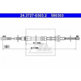 lanko ruční brzdy ATE AT 580303 Auto-moto