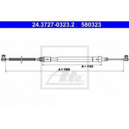 lanko ruční brzdy ATE AT 580323 Auto-moto