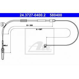 Tazne lanko, parkovaci brzda ATE AT 580400 Auto-moto