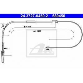 lanko ruční brzdy ATE AT 580450 Auto-moto