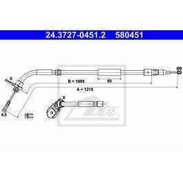 lanko ruční brzdy ATE AT 580451 Auto-moto