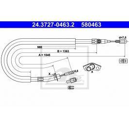 Tazne lanko, parkovaci brzda ATE AT 580463 Auto-moto