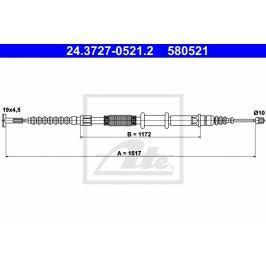 lanko ruční brzdy ATE AT 580521 Auto-moto