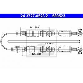 lanko ruční brzdy ATE AT 580523 Auto-moto