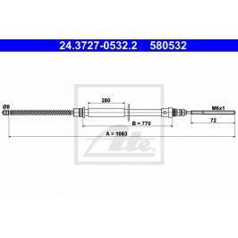 lanko ruční brzdy ATE AT 580532 Auto-moto