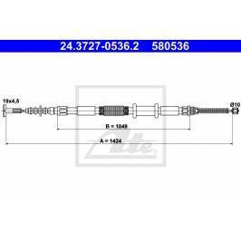 lanko ruční brzdy ATE AT 580536 Auto-moto