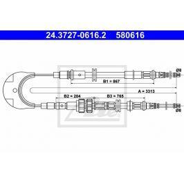 lanko ruční brzdy ATE AT 580616 Brzdové destičky a čelisti