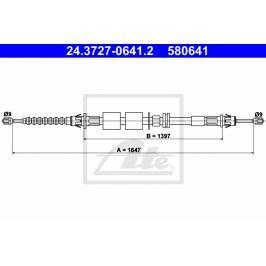 lanko ruční brzdy ATE AT 580641 Brzdové destičky a čelisti