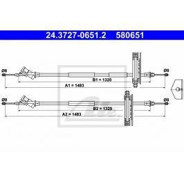 Tazne lanko, parkovaci brzda ATE AT 580651 Brzdové destičky a čelisti