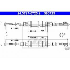 lanko ruční brzdy ATE AT 580725 Brzdové destičky a čelisti