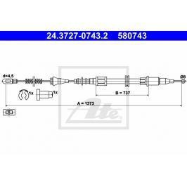 lanko ruční brzdy ATE AT 580743