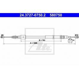 lanko ruční brzdy ATE AT 580750 Auto-moto